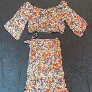 Lulu's Two Piece Skirt Set